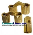 CONCEALED BRASS hinge 16 x 33mm